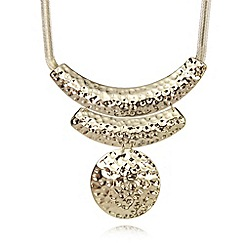 The Collection - Gold plated hammered disc necklace