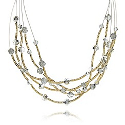 The Collection - Gold plated wire bead necklace