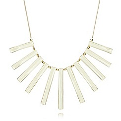 The Collection - Gold plated enamel bars necklace