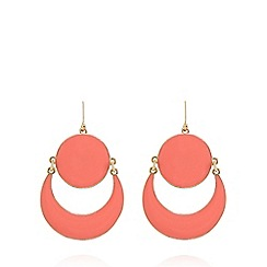 The Collection - Gold plated crescent earrings