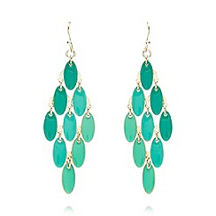The Collection - Gold plated enamel chandelier earrings