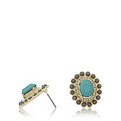The Collection - Gold plated stone stud earrings