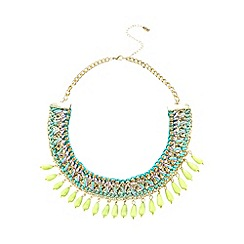 The Collection - Turquoise beaded multi row chain necklace