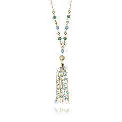 The Collection - Gold plated bead tassel necklace