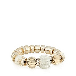 The Collection - Gold plated mixed bead stretch bracelet