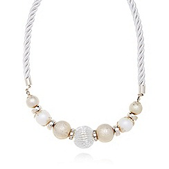 The Collection - Cream rope bead necklace