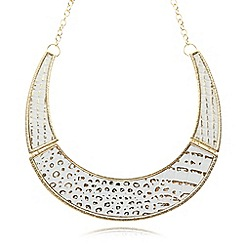 The Collection - Gold plated snakeskin necklace
