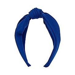 The Collection - Royal blue knotted headband