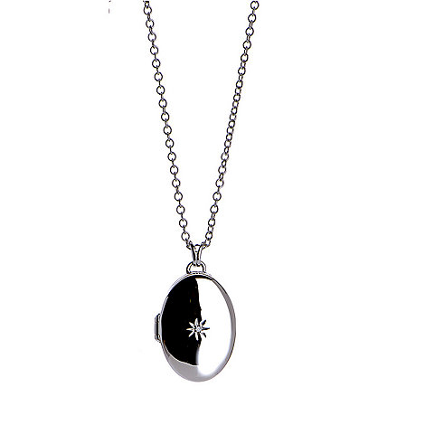 Hot Diamonds - Silver locket pendant necklace