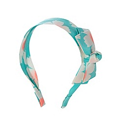 Floozie by Frost French - Green floral bow headband