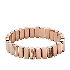 Fossil - Vintage glitz stretch-bracelet in rose gold-tone