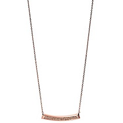 Fossil - Vintage Iconic glitz bar necklace in rose gold-tone