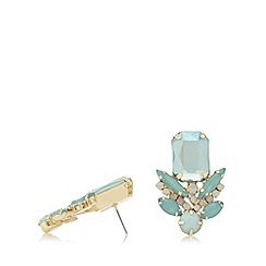 The Collection - Blue multi stone stud earrings