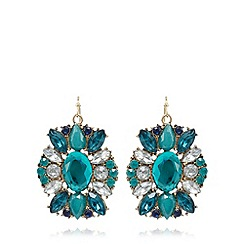 The Collection - Blue floral inspired stone earrings