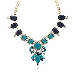 The Collection - Blue faceted gem stone necklace