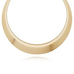 The Collection - Gold plated textured disc necklace