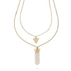 The Collection - Pink shard pendant necklace