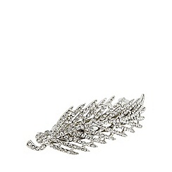 The Collection - Silver stone leaf barrette
