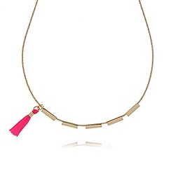 Floozie by Frost French - Pink retro inspired tassel necklace