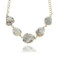 No. 1 Jenny Packham - Designer gold plated druzy statement necklace