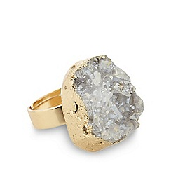 No. 1 Jenny Packham - Designer gold plated druzy statement ring