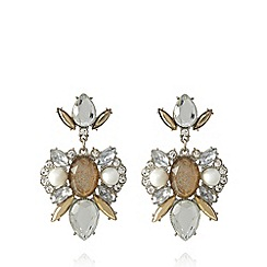 No. 1 Jenny Packham - Designer silver plated chandelier earrings