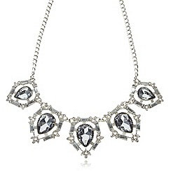 No. 1 Jenny Packham - Designer silver plated teardrop necklace