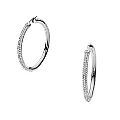 DKNY - Sparkle stainless steel hoop earings with clear stones
