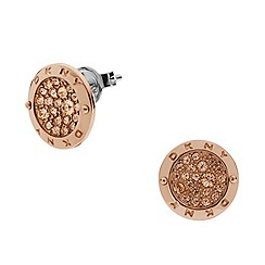 DKNY - Sparkle gold stainless steel earrings