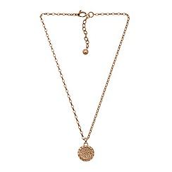 DKNY - Sparkle rosegold IP stainless steel necklace
