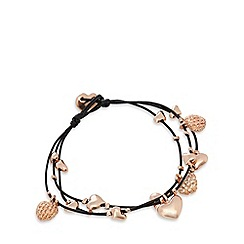 Pilgrim - Rose gold plated heart bracelet