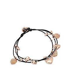 Pilgrim - Rose gold plated heart bracelet