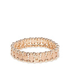 Pilgrim - Rose gold plated disc bracelet