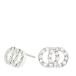 Pilgrim - Silver plated embellished link earrings