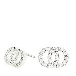 Pilgrim - Silver plated embellished link earrings