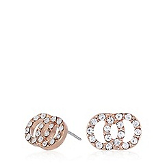 Pilgrim - Rose gold plated embellished earrings