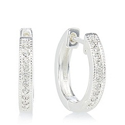 Pilgrim - Silver plated embellished small hoop earrings