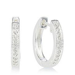 Pilgrim - Silver plated embellished small hoop earrings
