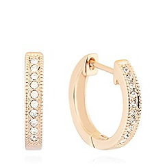 Pilgrim - Rose gold plated embellished small hoop earrings