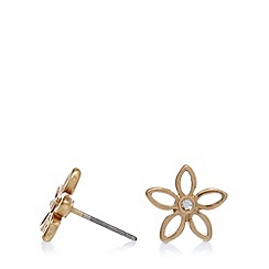 Pilgrim - Gold plated flower stud earrings