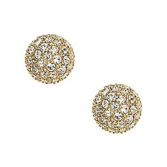 Fossil - Ladies gold-tone pave ball stud