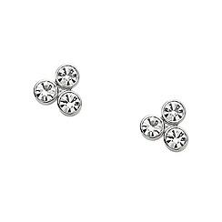 Fossil - Ladies silver glitz dot studs