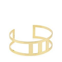 Pilgrim - Gold plated cutout cuff bracelet