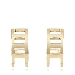Pilgrim - Gold plated cutout hoop earrings