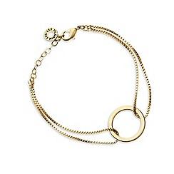 Pilgrim - Gold plated hoop bracelet