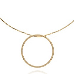 Pilgrim - Gold plated large hoop pendant necklace