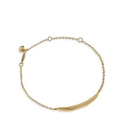 Pilgrim - Gold plated faceted bracelet