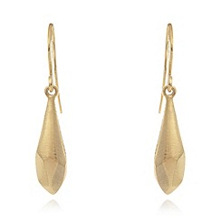 Pilgrim - Gold plated faceted drop earrings