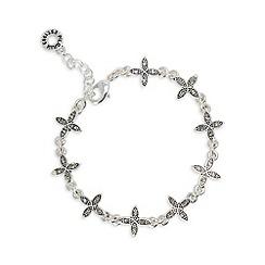 Pilgrim - Silver plated leaf cluster bracelet