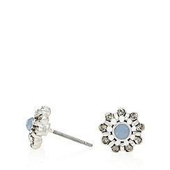 Pilgrim - Silver plated flower stud earrings